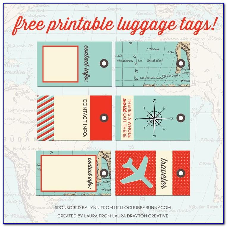 Printable Luggage Tags Word Templates