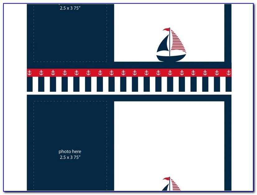 Printable Nautical Invitation Template