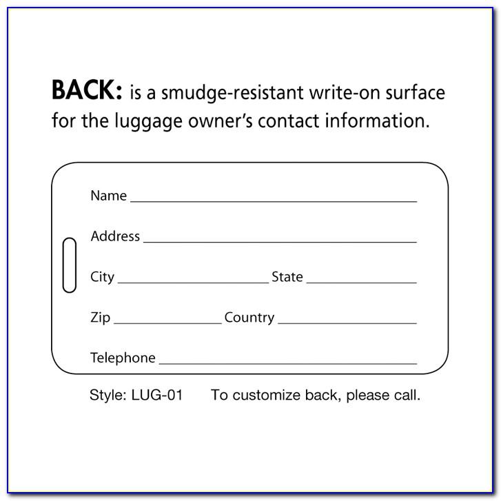 Lenticular Luggage Tags Enduraline
