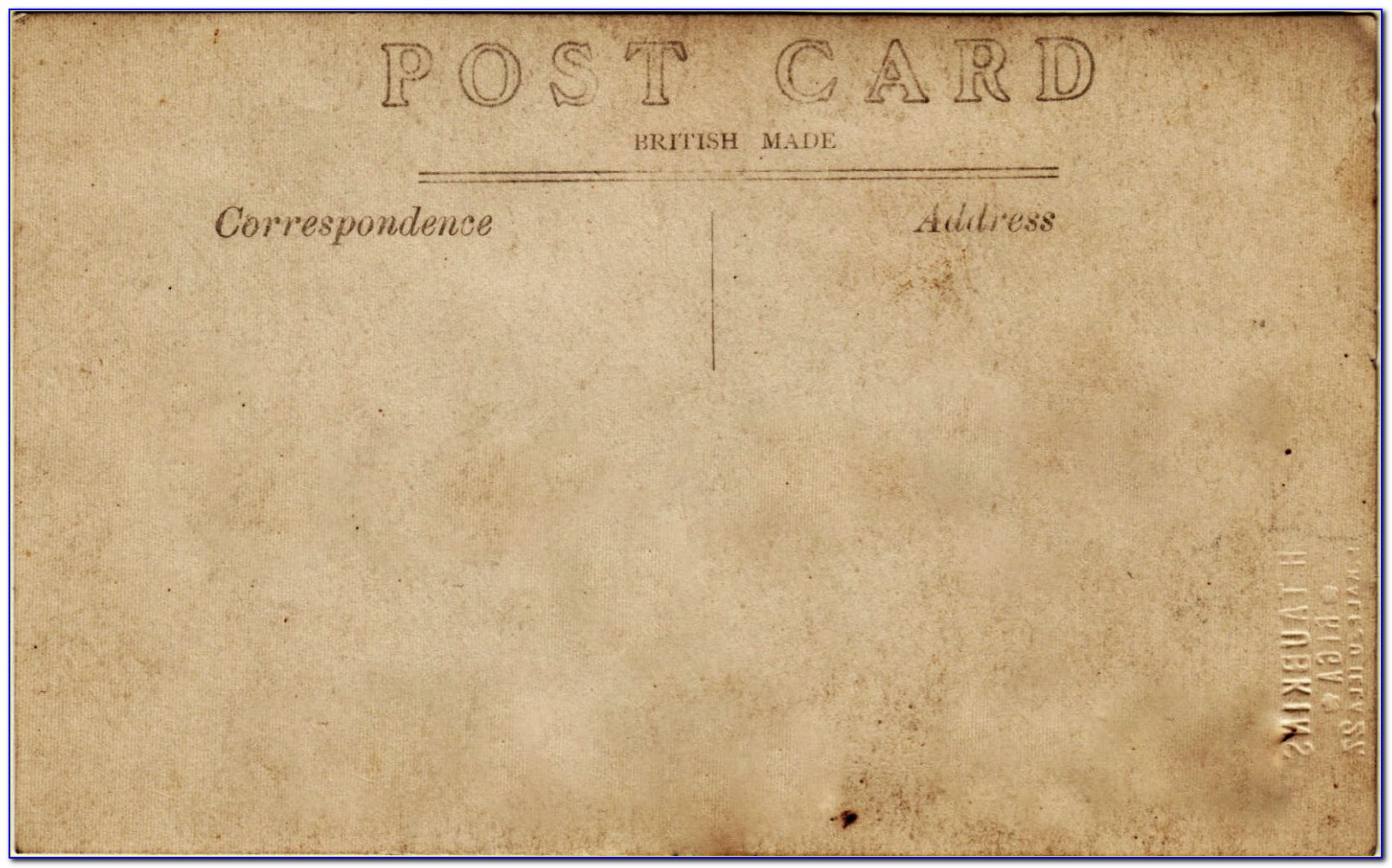 Printable Vintage Postcard Template
