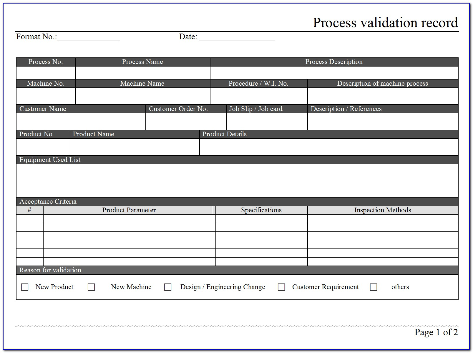 Process Validation Sop Template