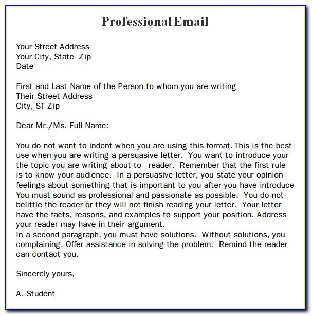 Professional Emails Templates Free