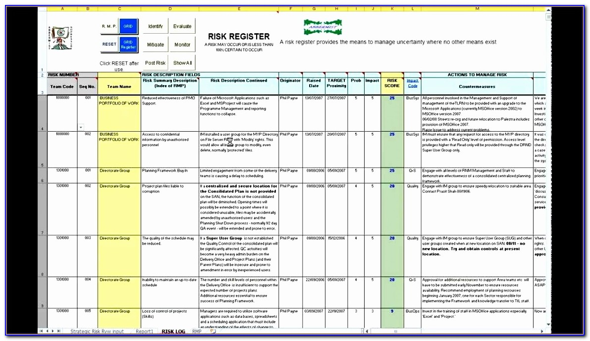 Risk Assessment Template Excel Ktfck Luxury Abbermist Risk Register Avi