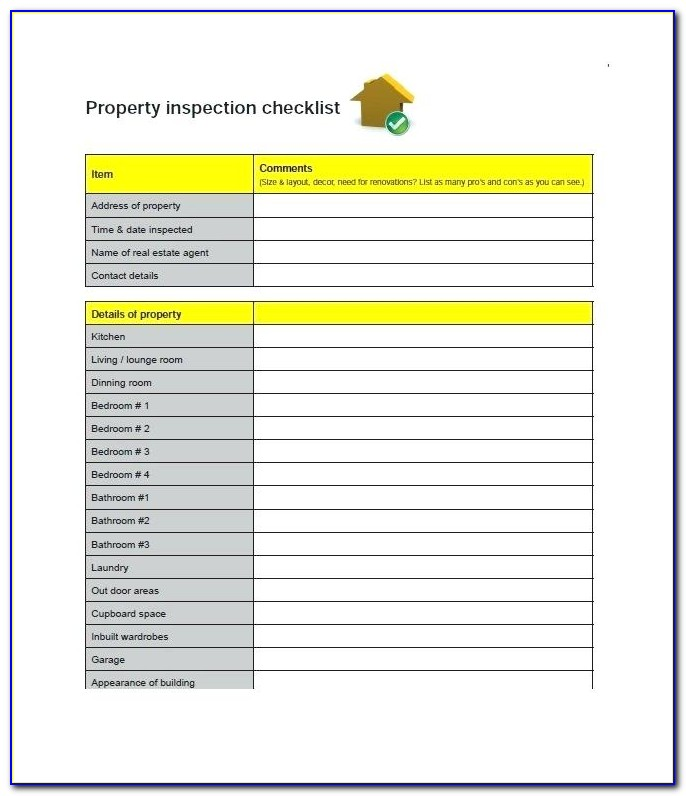 Property Inspection Format