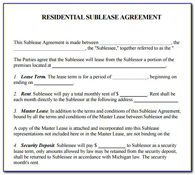 Property Lease Contract Template Free