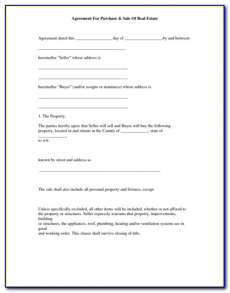 Property Sales Contract Template Nsw