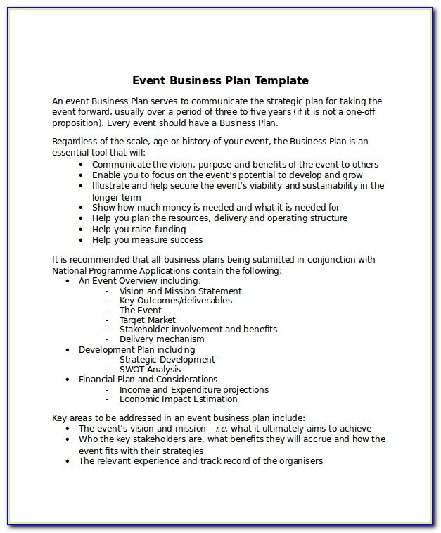 Pub Business Plan Examples Uk