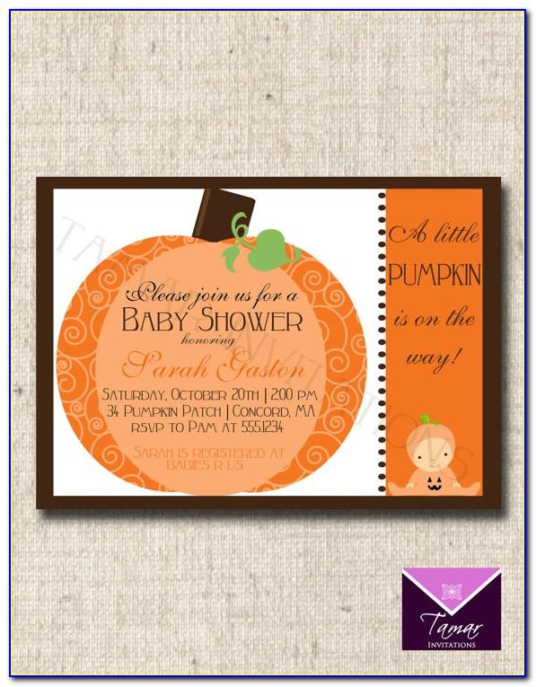 Pumpkin Patch Invitation Template