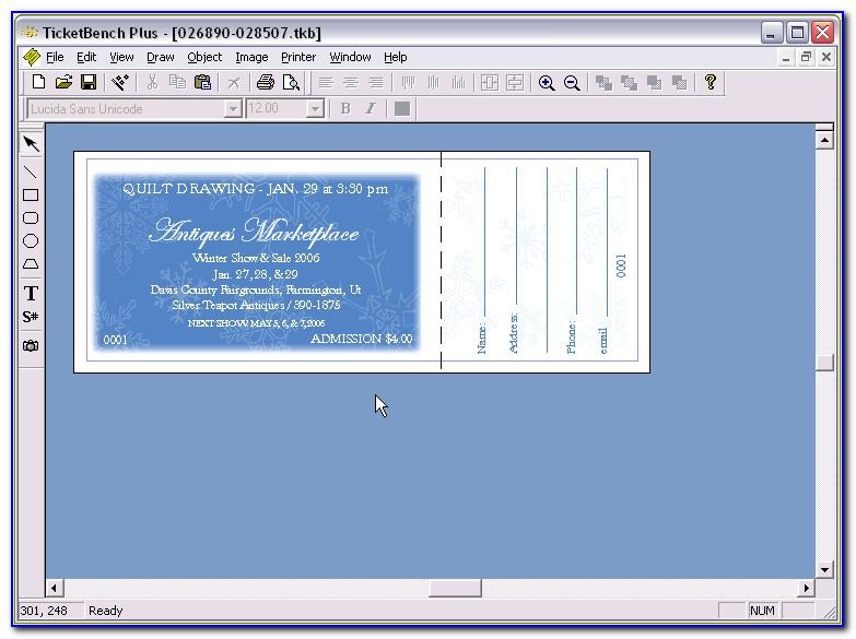 Raffle Ticket Template Microsoft Word 2007