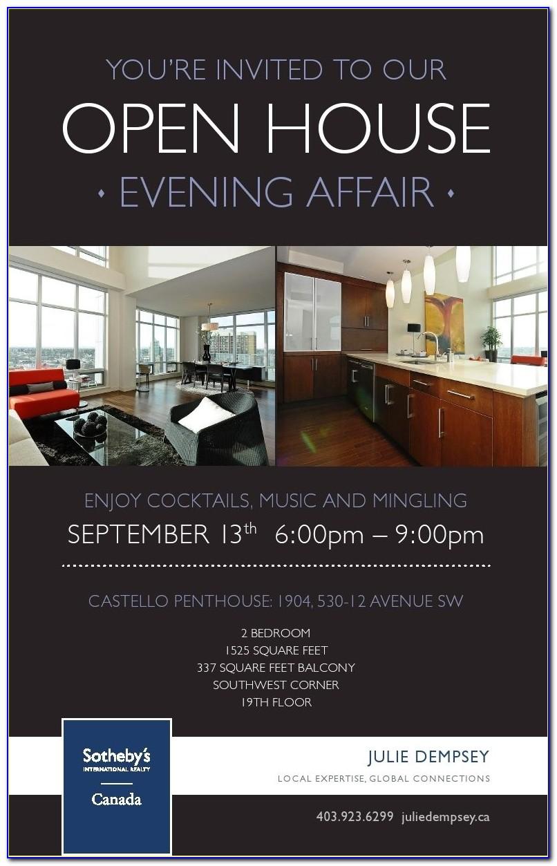 Real Estate Open House Invitation Sample
