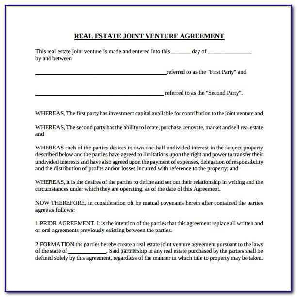 Real Estate Team Partnership Agreement Template