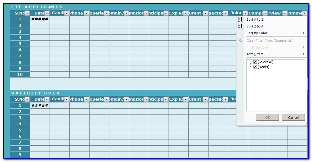Recruitment Tracker Template Excel