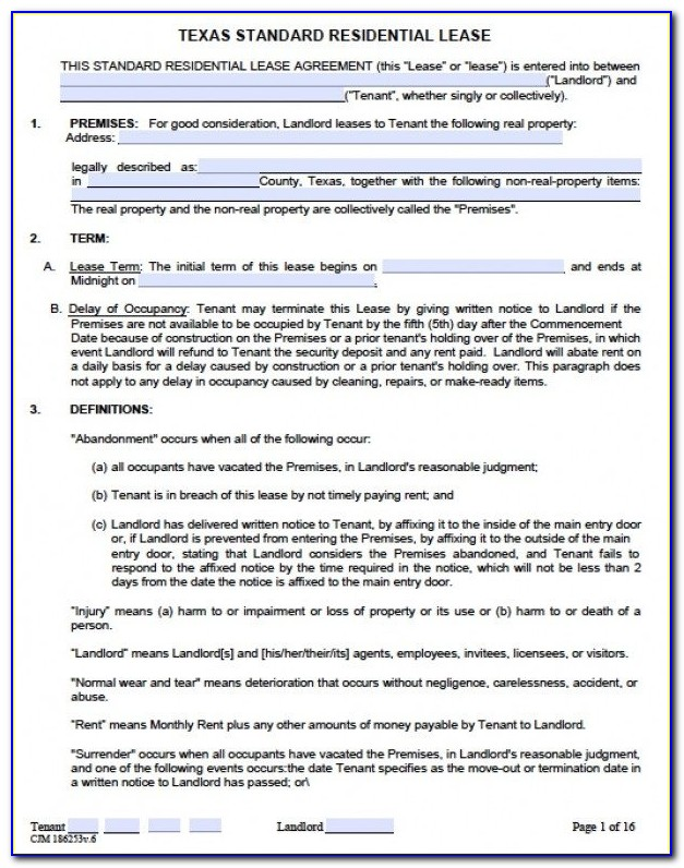 Residential Rental Agreement Template Word