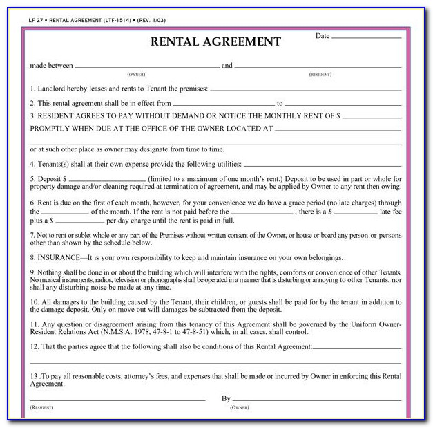 Residential Tenancy Agreement Template Tasmania