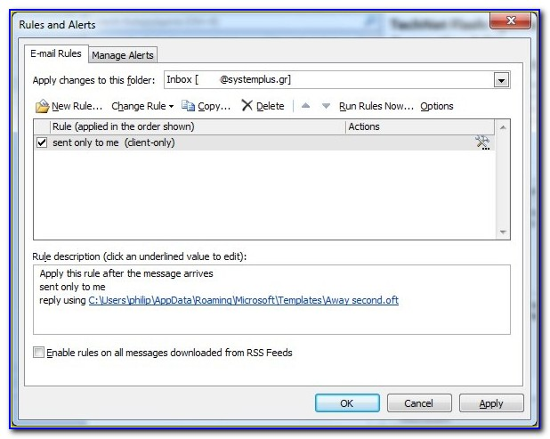 Resign Auto Reply Email Template