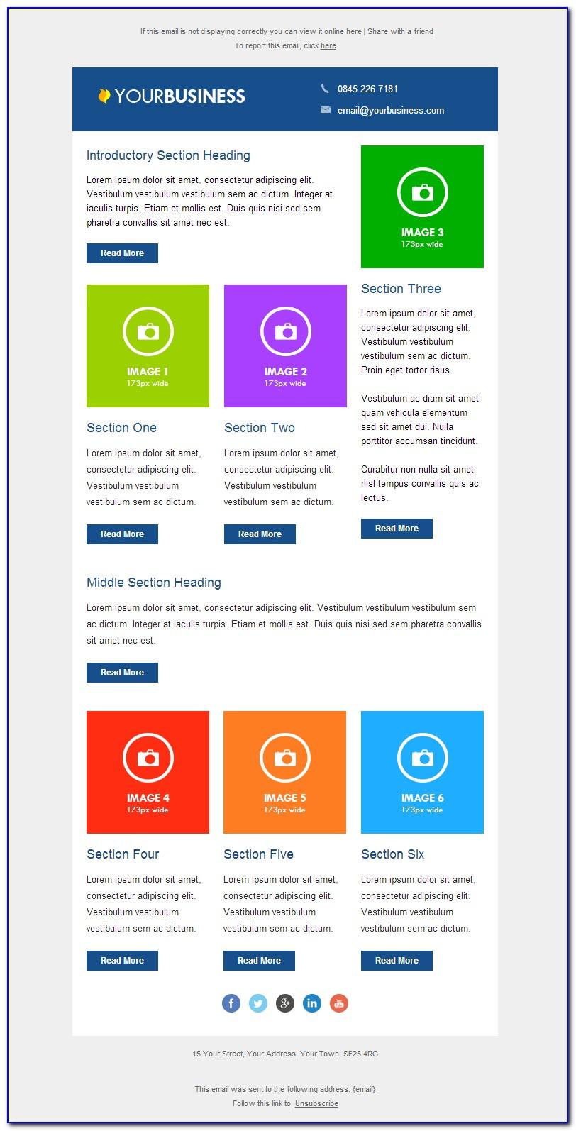 Responsive Newsletter Design Templates