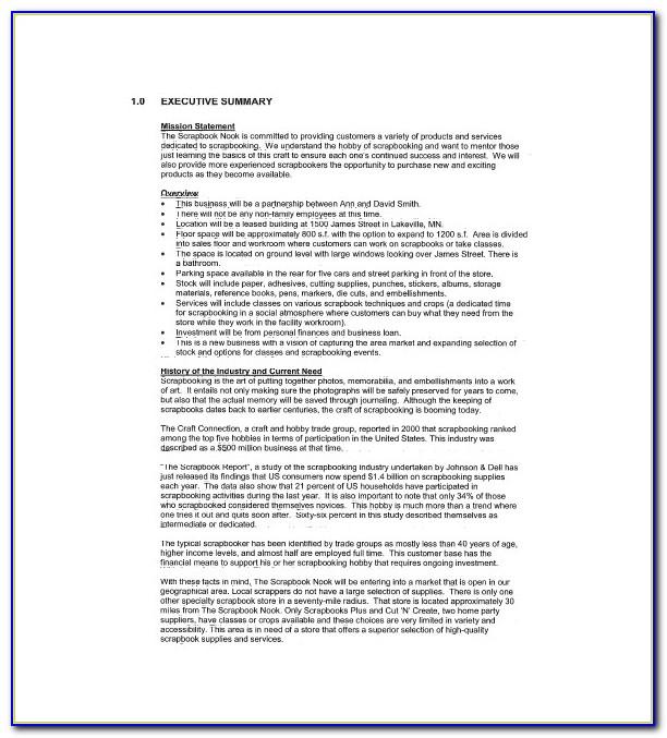 Retail Business Plan Samples
