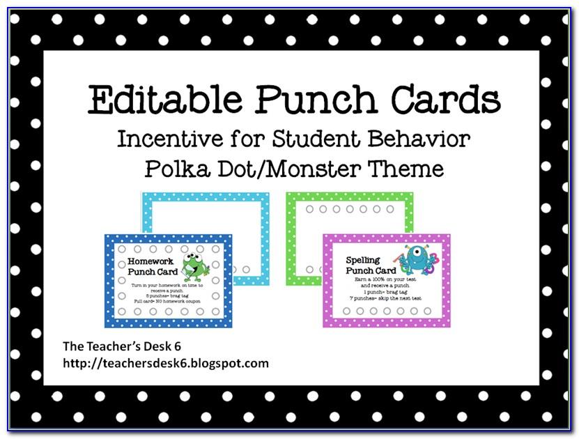 Rewards Card Template Free