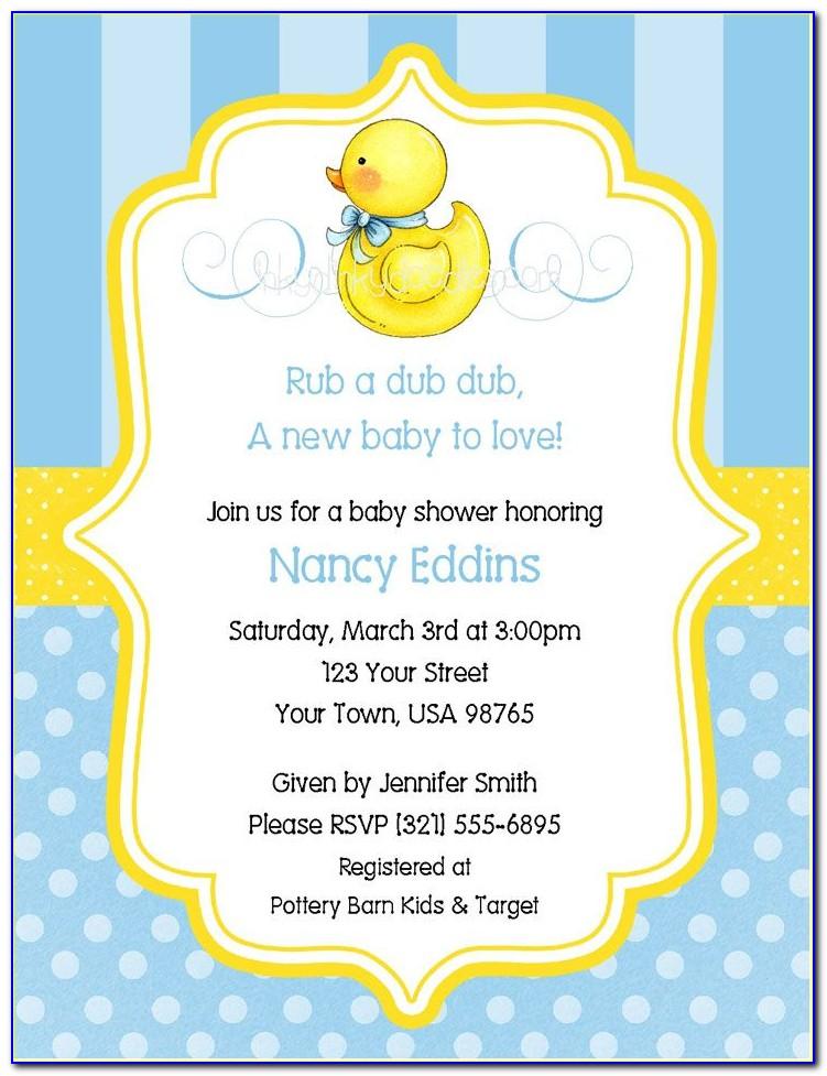 Rubber Duck Invitation Template
