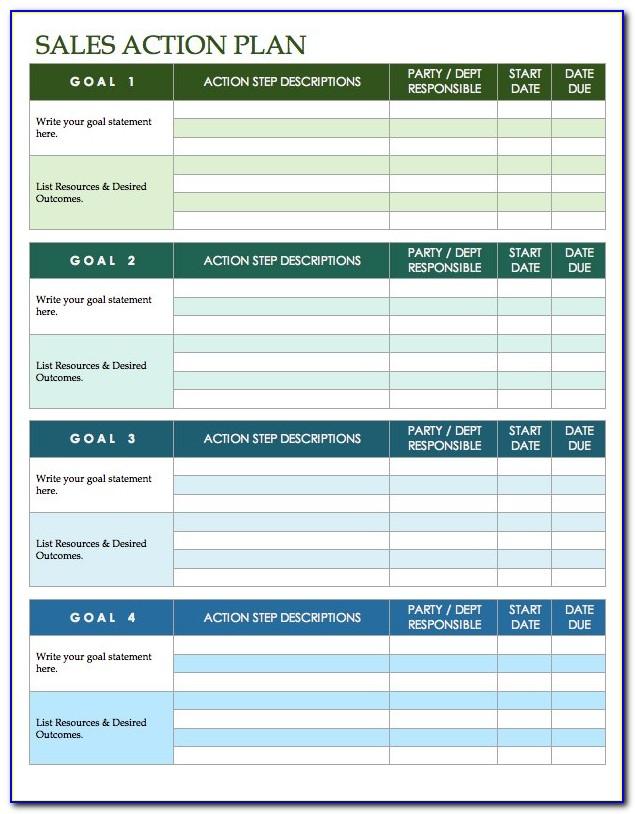 Sales Plan Template Excel Free Download