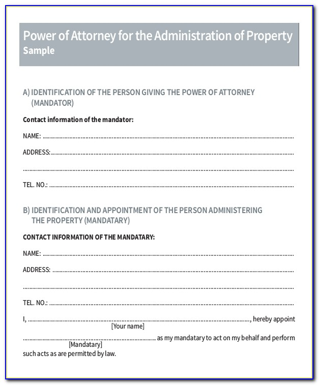 Sample Of Power Of Attorney Malaysia