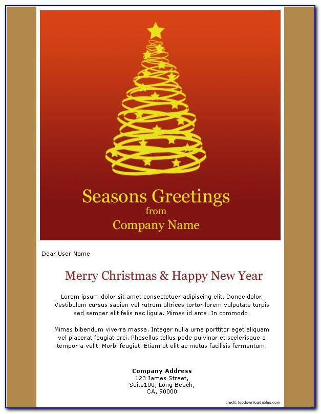 Season Greetings Business Email Template