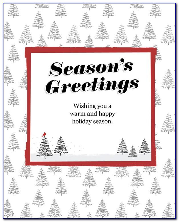 Season Greetings Email Template