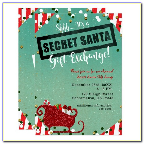 Secret Santa Invitation Letter Template