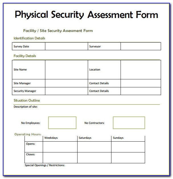Security Vulnerability Assessment Report Template
