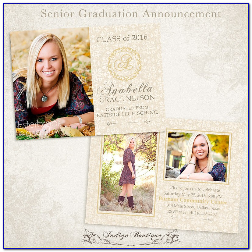 Senior Photo Card Templates