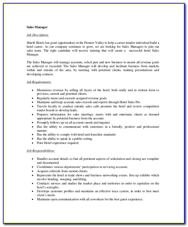 Senior Sales Executive Job Description Template