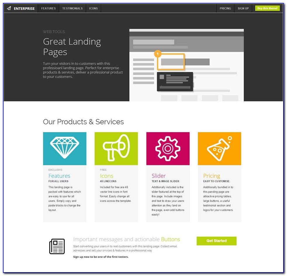 Seo Landing Page Templates