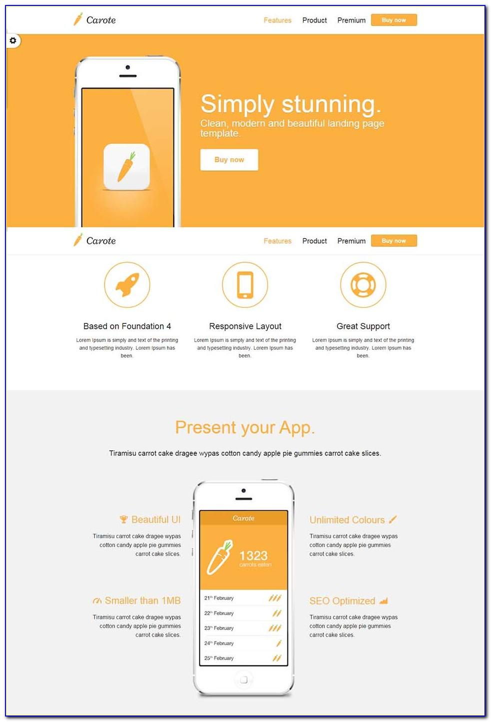 Seo Landing Page Website Template