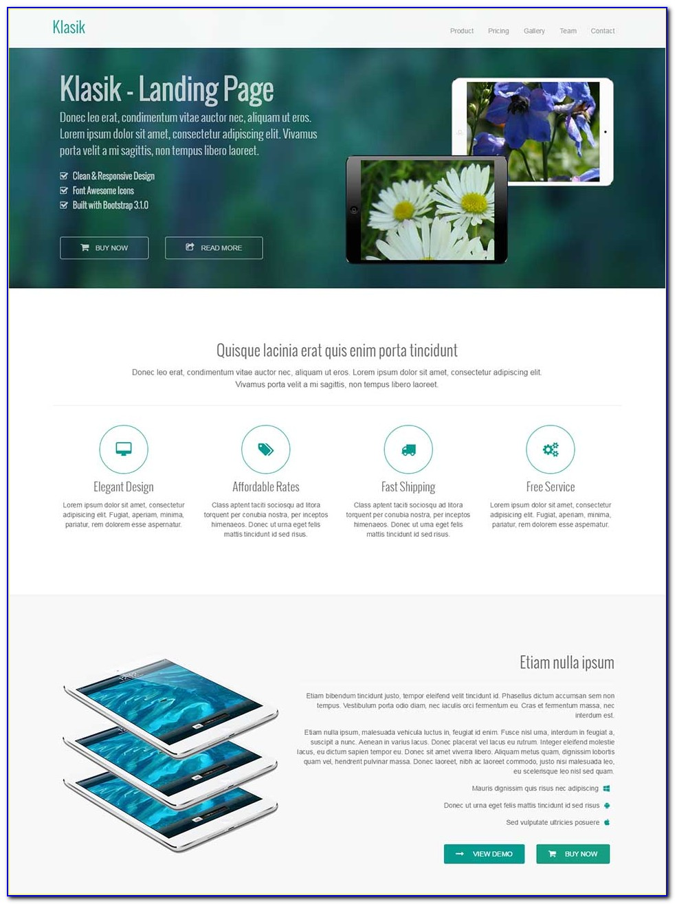 Seo Optimized Landing Page Template