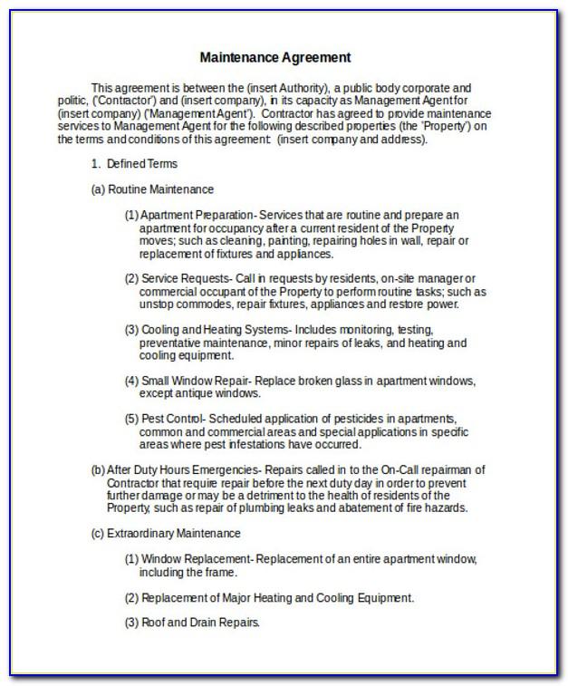 Service Provider Contract Template Pdf