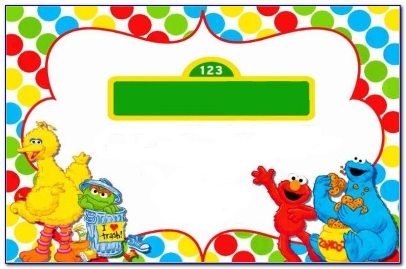Sesame Street Party Invitations Template