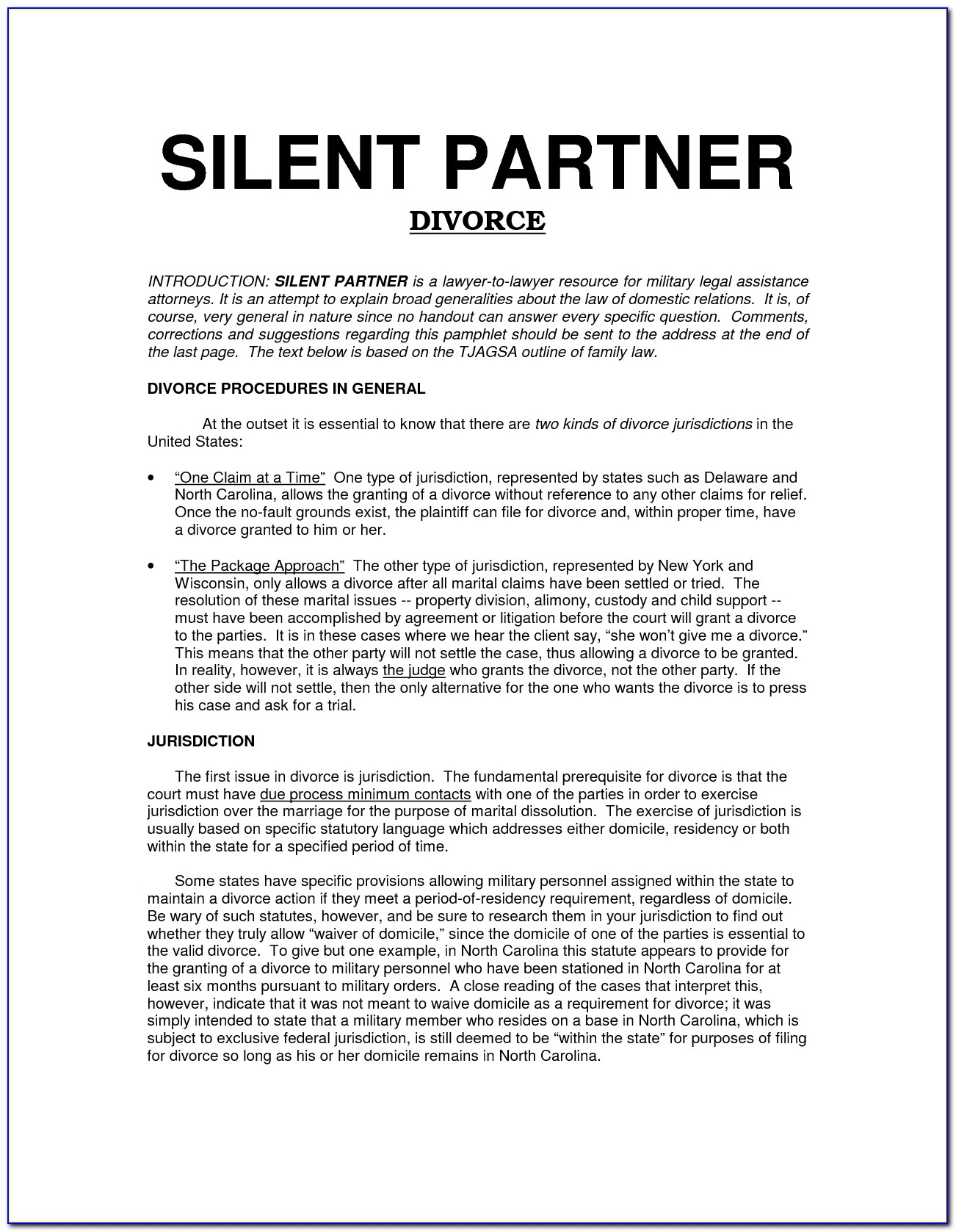 Silent Partner Contract Template
