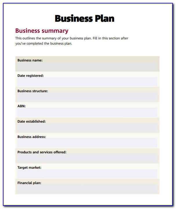 Simple Business Proposal Template Doc