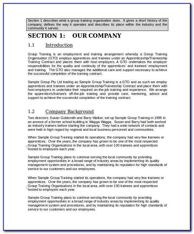 Small Business Administration Employee Handbook Template