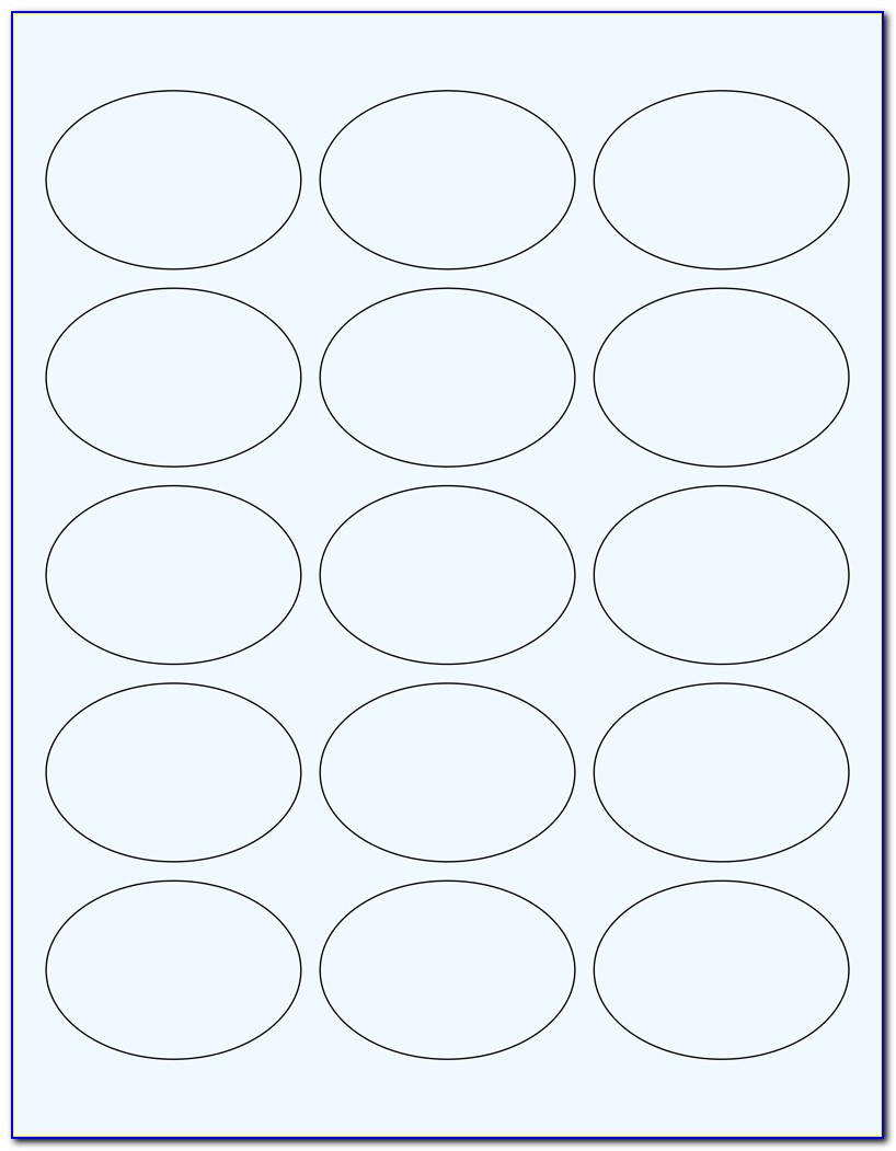 Small Oval Label Templates Free