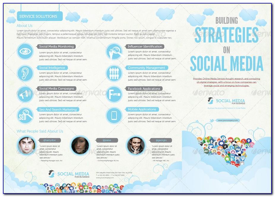 Social Media Brochure Template Free
