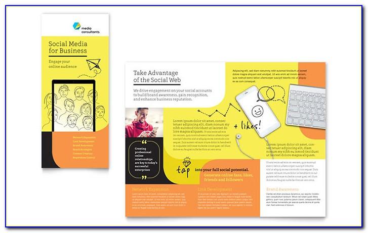 Social Media Consultant Tri Fold Brochure Template