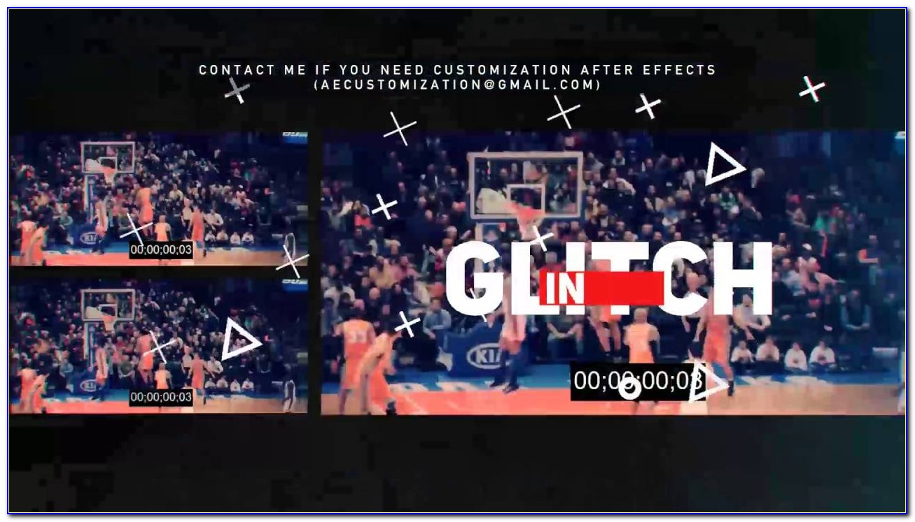 After Effects Sports Templates And Glitch Opener