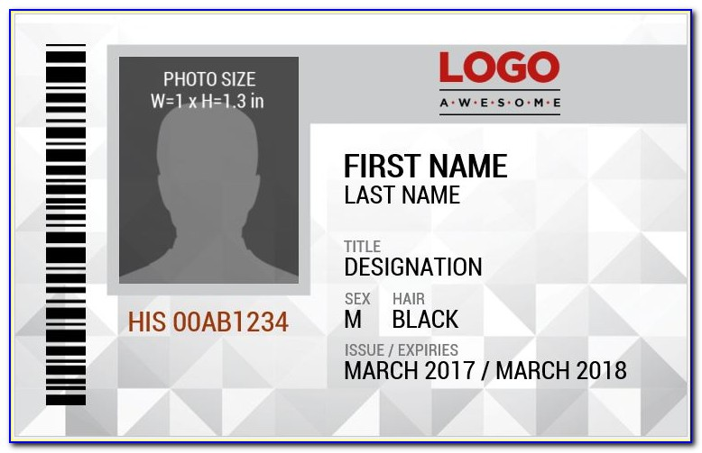 Student Id Badges Templates