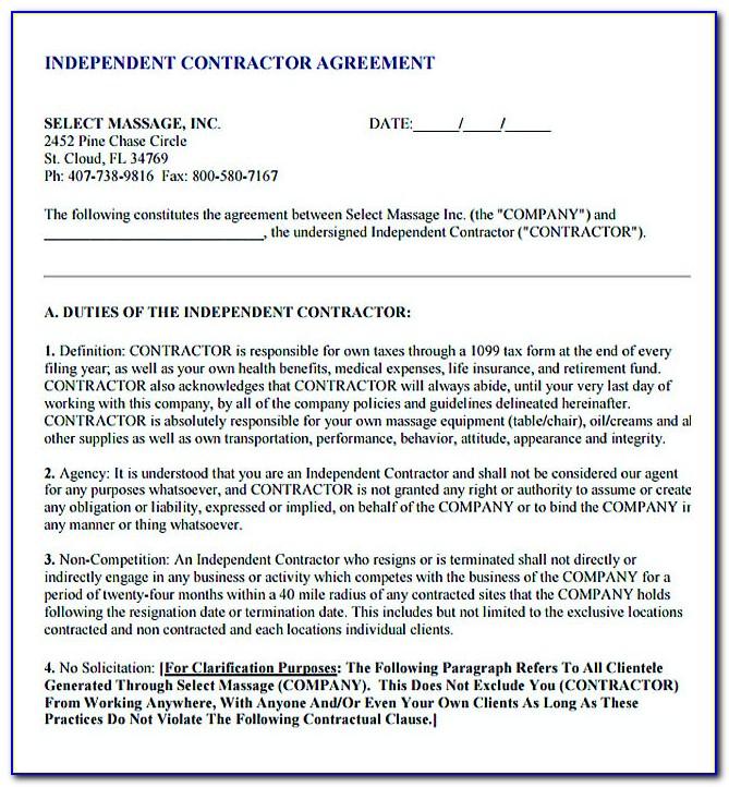 Subcontractor Agreement Template Free Australia