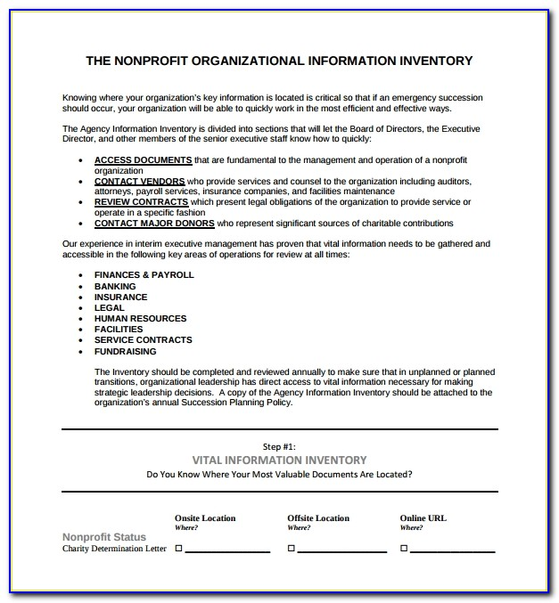 Succession Planning Template For Nonprofits