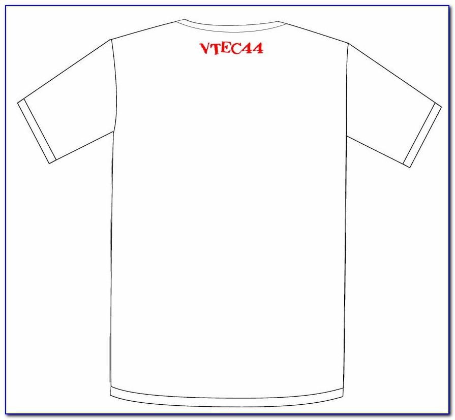 T Shirt Printing Template Illustrator