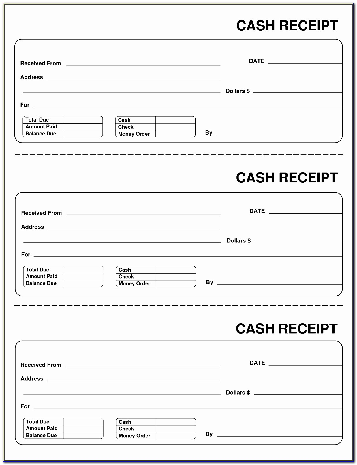 Taxi Receipt Template Free