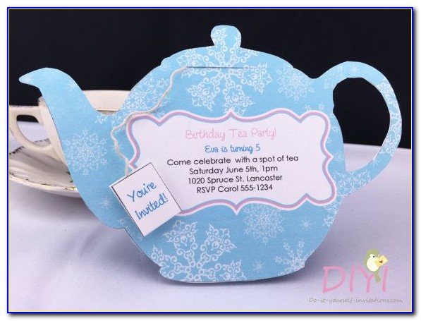 Teapot Invitation Template Printable