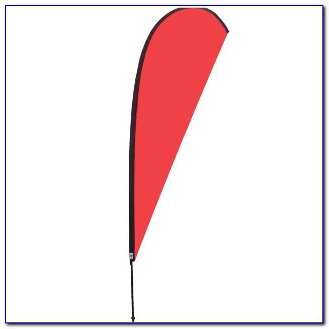 Teardrop Banner Template Illustrator